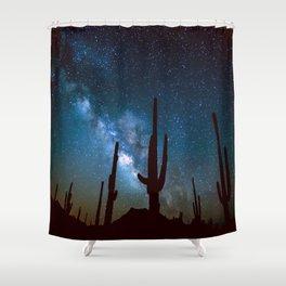 Milky Way Cacti Shower Curtain