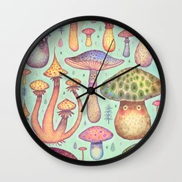 Fun, Fun, Fungi Wall Clock