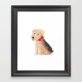 Custom Dog Art Airedale Framed Art Print