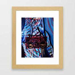 Boob Box Blue Framed Art Print