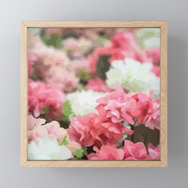 Flower Market Framed Mini Art Print
