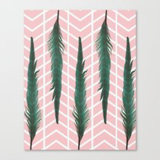 The Teal Feather Canvas Print