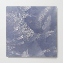 Ice crystals Metal Print
