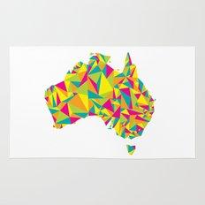 Abstract Australia Bright Earth Rug