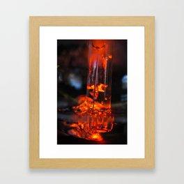siphon macro Framed Art Print