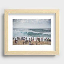 Massive wave at Banzai Pipeline, Northshore Oahu, Hawaii Recessed Framed Print