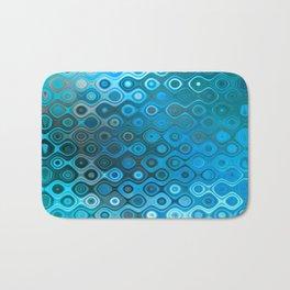 Wobbly Dots Light in cyan blue Bath Mat