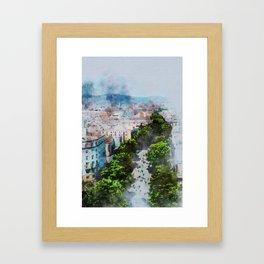 My lovely town Barcelona Framed Art Print