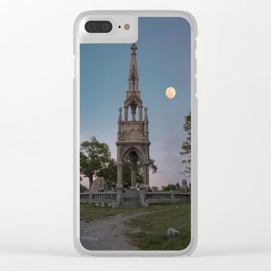 Cemetery Monument Clear iPhone Case