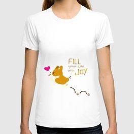 corgi - fill your life with JOY T-shirt