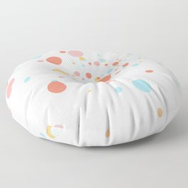 Scatter Dots   repeating pattern Floor Pillow