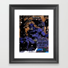 A Death In The Family Framed Art Print