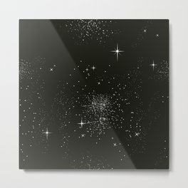 Dark night and stars Metal Print