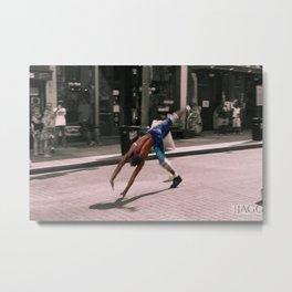 Downtown Memphis - Beale Street Flipper Metal Print