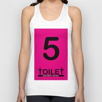 toilet Tank Tops featuring TOILET CLUB #5 by Toilet Club