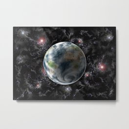 Planet Earth-Space Metal Print