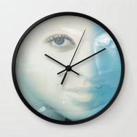 virgo Wall Clocks featuring Virgo by Vin Zzep