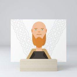 King Ragnar Lodbrok-Vikings Mini Art Print