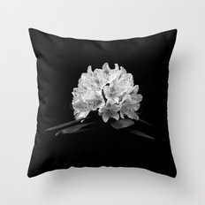 Rhododendron In Black And White Throw Pillow