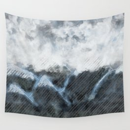 Stormy Mountains Wall Tapestry