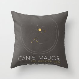 Canis Major - The Greater Dog Constellation Throw Pillow