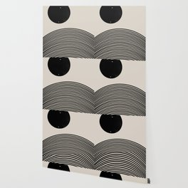 Woodblock Art, Mid Century illustration Wallpaper