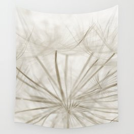 Dandelion Neutral Closeup Wall Tapestry
