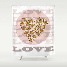 LOVE XX Shower Curtain