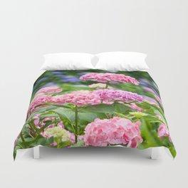Pink & Lavender Flower Clusters Duvet Cover