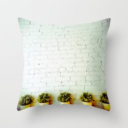 New York City Cafe Throw Pillow