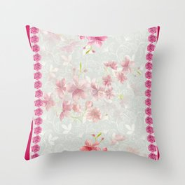 FLORAL FEVER Throw Pillow