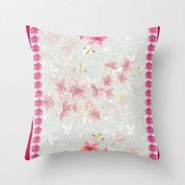 FLORAL FEVER Throw Pillow