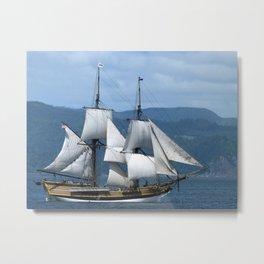 Lady Washington Tall Ship Sailing Pirate Boat Wooden Grays Harbor Washington Fishing Fisherman Colum Metal Print