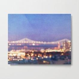 BAY BRIDGE GLOW - San Francisco Metal Print