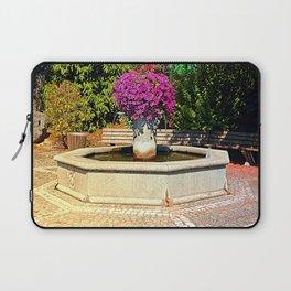 The village fountain of Eggendorf Laptop Sleeve