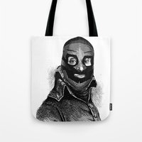 wrestling Tote Bags featuring Wrestling mask 3 by DIVIDUS DESIGN STUDIO