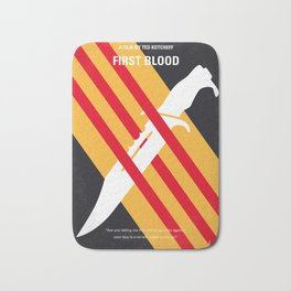 No288 My Rambo First Blood minimal movie poster Bath Mat