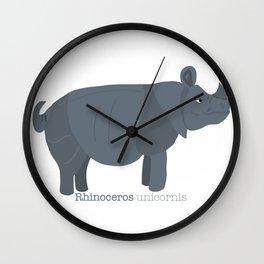 Rhinoceros unicornis- animatec Wall Clock