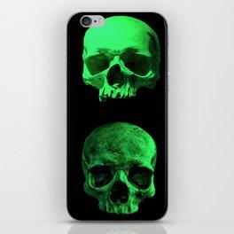 Skull quartet green iPhone Skin