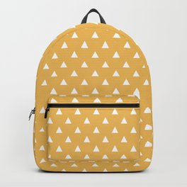 mustard yellow triangle pattern Backpack