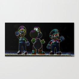 Luigi, Yoschi and Mario Canvas Print