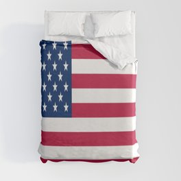 Flag of USA - American flag, flag of america, america, the stars and stripes,us, united states Duvet Cover