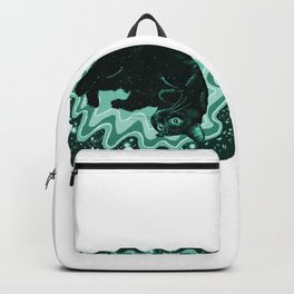Cat-Nipped in Teal Backpack