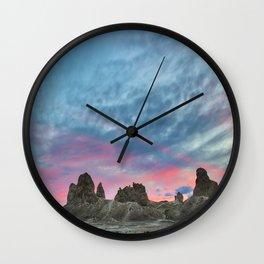 Pastel Rainbow Sunset : Tronna Pinnacles Wall Clock