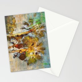 Palm Trees in Pond Stationery Cards