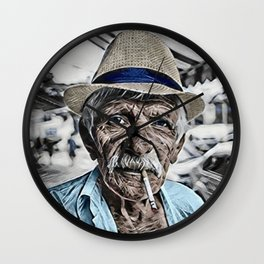 The Old Man and the Sea Portrait Wall Clock