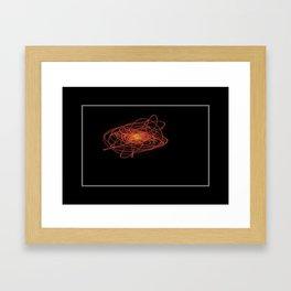 Swinging Laser Light Framed Art Print