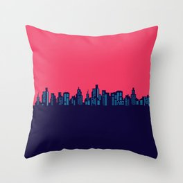 red Nignt in New York city Throw Pillow