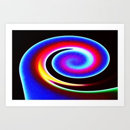 Colour wave Art Print