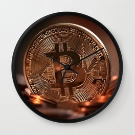 Bitcoin Cryptocurrency Wall Clock